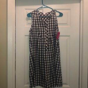 NWT Adorable Gingham Grey dress!